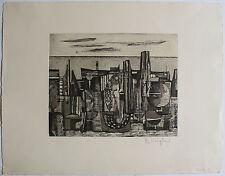 Rudolf Kügler - Stadtlandschaft (ca. 1957). Handsignierte Radierung Griffelkunst