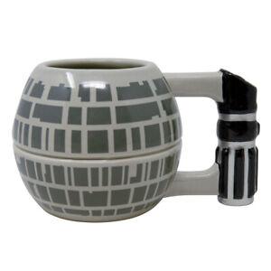 Boxed Mug Ceramic Gift Sculpted Shaped - STAR WARS DEATH STAR