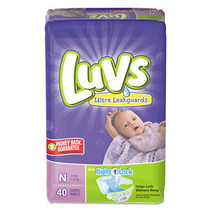 Luvs-Diapers-w-Leakguard-Newborn-4-to-10-lbs-40-Pack-4-Pack-Carton-85921CT