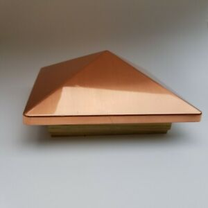 Details about Ornamebtal Post Cap Victoria High Point Copper Pyramid Deck  6x6 Wood Fence Post