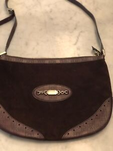 033b0d70d Image is loading Gucci-Punch-Messenger-Brown-Leather-Suede-Cross-Body-