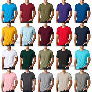 NEXT-LEVEL-PREMIUM-CREW-NECK-T-SHIRT-MENS-SOFT-FITTED-BASIC-PLAIN-TEE-3600