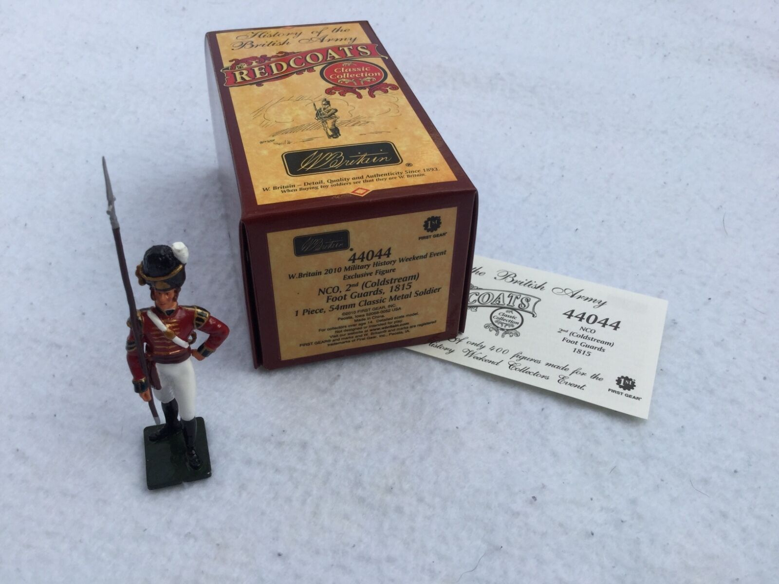 William Britains Redcoats NCO 2nd Coldstream Foot Guards 44044 New Boxed