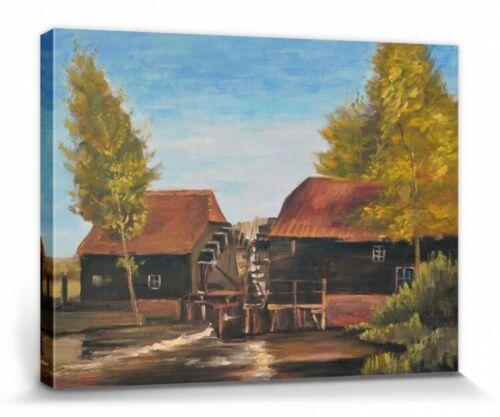 40x30cm Wassermühle Poster Leinwand-Druck Bild #111265 Vincent Van Gogh