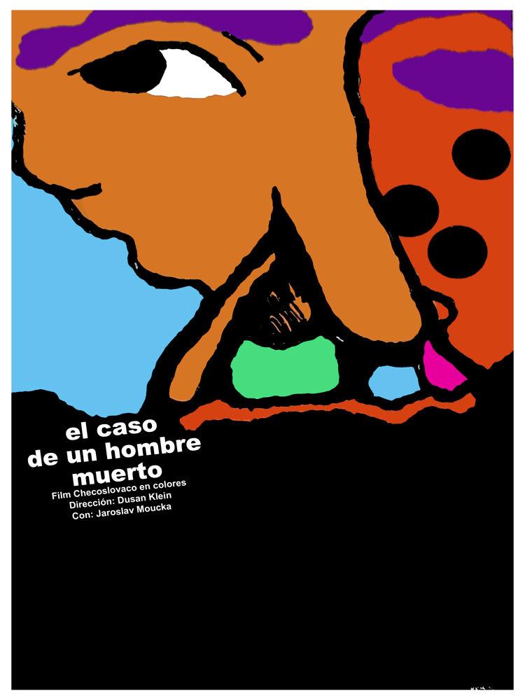 El Caso de un hombre muerto vintage film POSTER.Graphic Design. Art Decor.3146