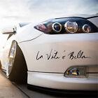 Black Life is Beautiful La Vita E Bella Wall Decal Car Styling Sticker New