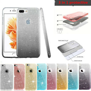 Bling-Glitter-TPU-Case-Shockproof-Protection-Cover-For-Apple-iPhone-7-6-6S-Plus