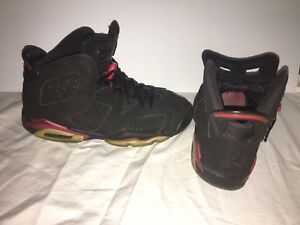 new product 5c207 94e20 Details about Nike Air Jordan 6 VI Retro Black Varsity Red SZ 6 6Y Infrared  Bred RARE