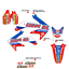 2009-2012-HONDA-CRF-450R-GRAPHICS-KIT-CRF450R-LUCAS-OIL-RED-BLUE-DECALS miniature 1