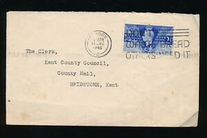1946 VICTORY FDC COMMERCIAL MAIL...DON'T WASTE BREAD SLOGAN