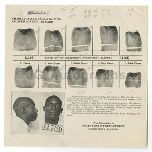 Wanted Notice - Charley Little/Escaped Convict - Montgomery, Alabama