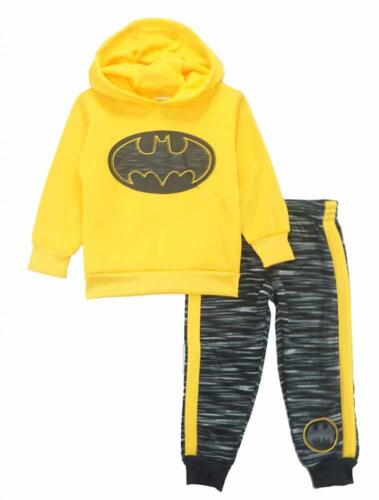 Batman Toddler Boys Yellow /& Black 2pc Sweatsuit Set Size 2T 3T 4T