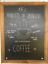 62.4 x 45 x 1.5 cm A2 Chalkboards UK bois encadrée tableau noir Chêne Foncé