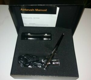 COSSCCI Airbrush Kit, Portable Mini Air Brush Spray Gun with Black