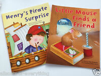 2 x Young Childrens Book Henrys Pirate Surprise Mouse finds Friend  - Toddler
