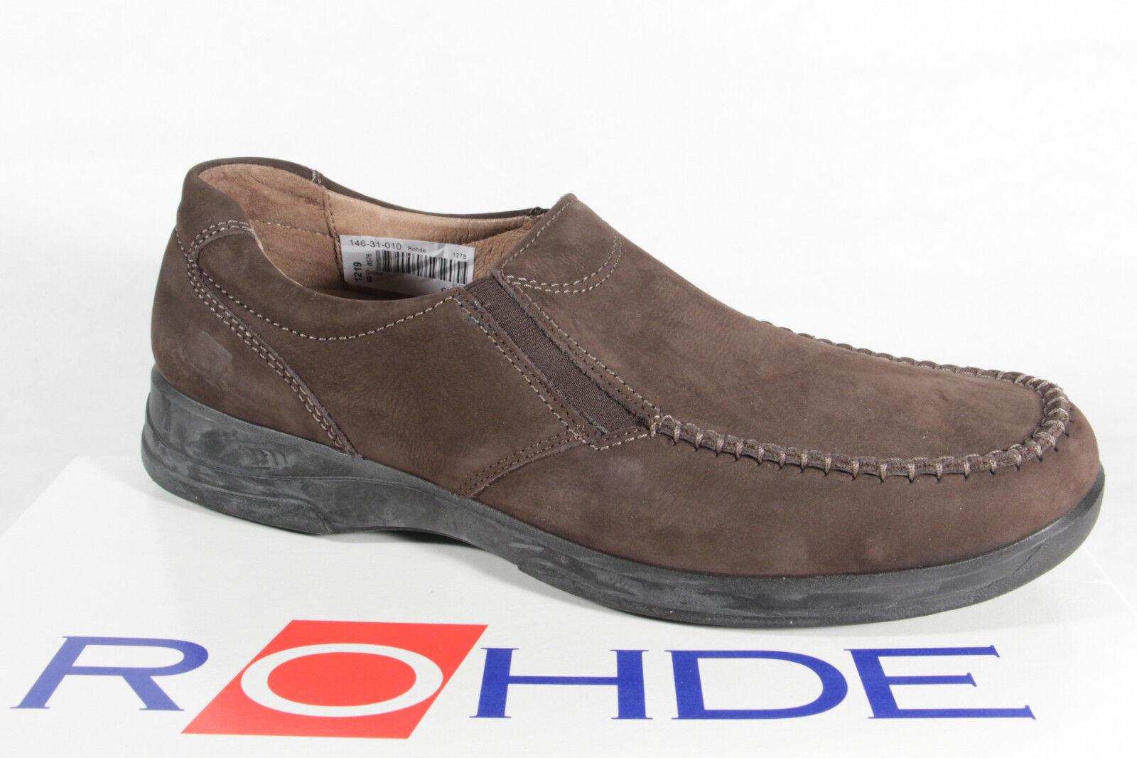 Rohde Herren Slipper Halbschuhe Sneaker braun  NEU