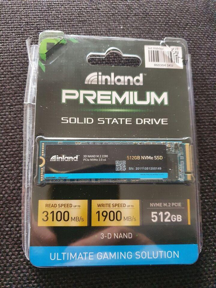 Inland Premium 3100 MB/s NVMe M.2 PCIE 3x4, 512 GB, Perfekt