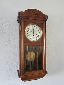 Image Is Loading 0129 Antique German Junghans Westminster Chime Wall Clock