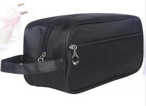 51d508d55fb Quality Men s Shaving, Toiletry and Travel Bag, 2 Zipper - Black   eBay