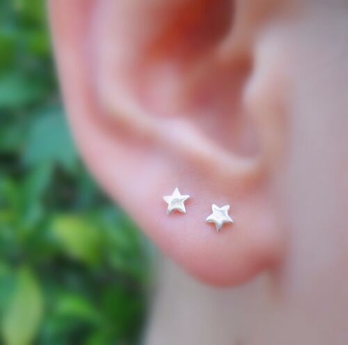 Nose Ring Piercing Tragus Cartilage Earring Sterling Silver Star Nose Stud