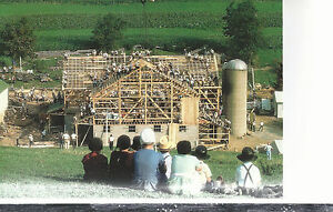 Ohio Amish Country Children Watching Barn Building 4x6 ...