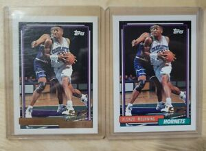 1992-93 Topps ALONZO MOURNING Rookie Card #393 - CHARLOTTE HORNETS GOLD + BASE