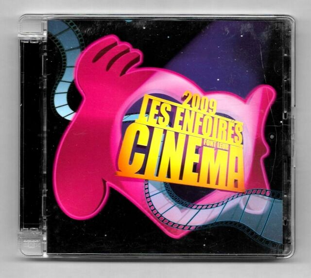 DOUBLE CD / 2009 LES ENFOIRES FONT LEUR CINEMA / COMEDIE MUSICALE , SPECTACLE