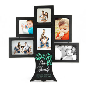 Family Tree Frame Collage Pictures Gift Multi Photo Mount Wall Decor