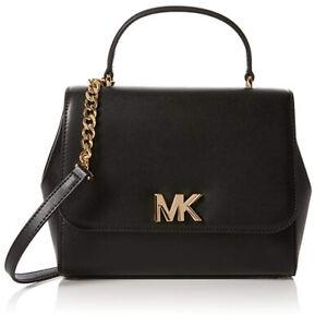 Michael-Kors-Mott-Leather-Top-Handle-Satchel-NEW-NO-SIZE-BLACK