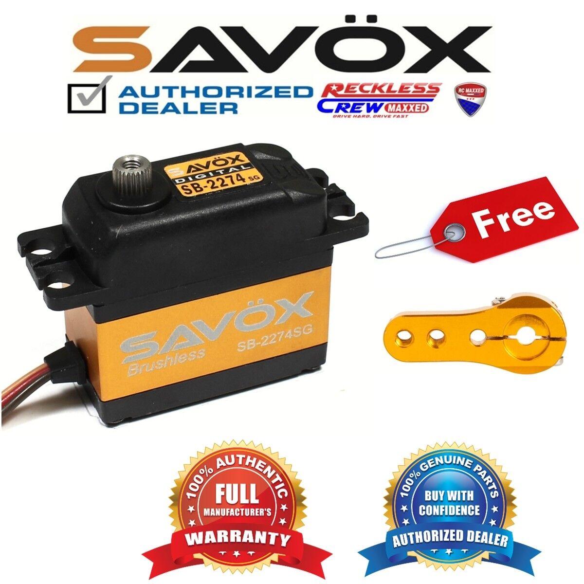 Savox SB-2274SG alto voltaje sin escobillas Servo Digital + Gratis ALU Servo Cuerno de oro