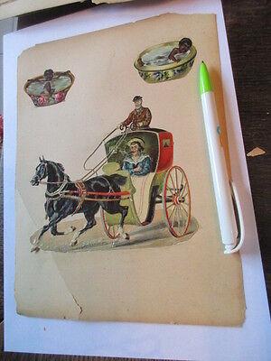 Papier & Dokumente Büro, Papier & Schreiben Wunderschöne Alte Xl Präge Oblate Glanzbild Koloniezeit Kutsche Um 1890 Dauerhafter Service