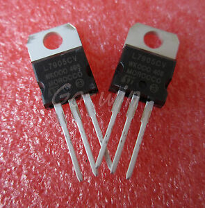 10Pcs L7905CV L7905 7905 TO-220 St Voltage Regulator 5V St US Stock v