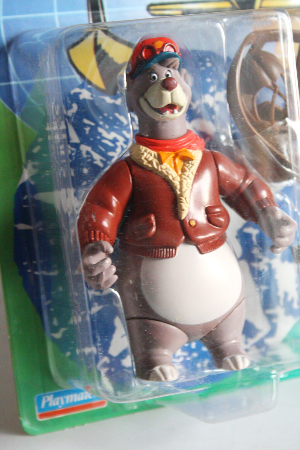 VERY RARE VINTAGE VINTAGE VINTAGE 1991 TALE SPIN BALOO FIGURE BANDAI PLAYMATES NEW SEALED MOSC   251403