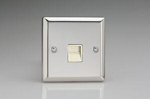 Varilight-1-Gang-Telephone-Master-Plug-Socket-Mirror-Chrome-XCTMW