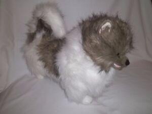 Melissa Doug 20 Plush Pomeranian Dog Brown Gray White Lg Big