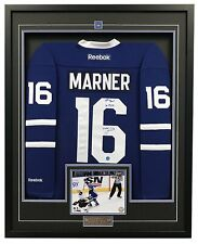 Mitch Marner Toronto Maple Leafs Signed & Dated 1st NHL Goal 35x43 Framed Jersey