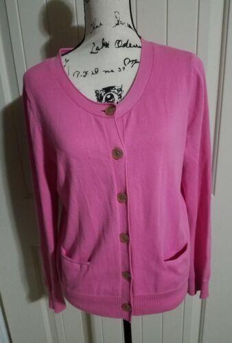 J. Jill Cotton Blend Pink Cardigan Women Size Medi