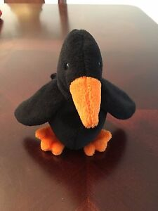 CAW the Crow  TY Beanie Baby  2nd Gen Tush Tag  1995  Rare  0066ae9d65d5