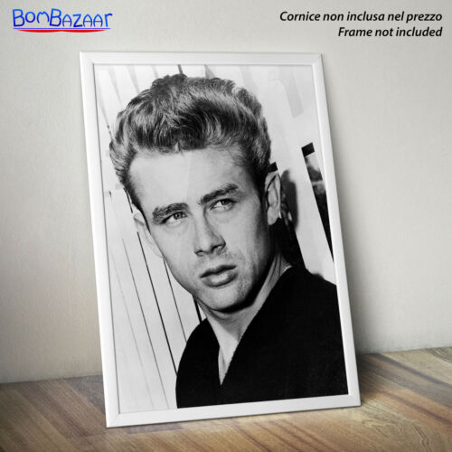 su CARTA FOTOGRAFICA//TELA CANVAS POSTER JAMES DEAN cinema Gioventù bruciata