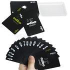 54 Pcs Black Plastic Exquisite Recreation PVC Playing Cards Game Poker Set