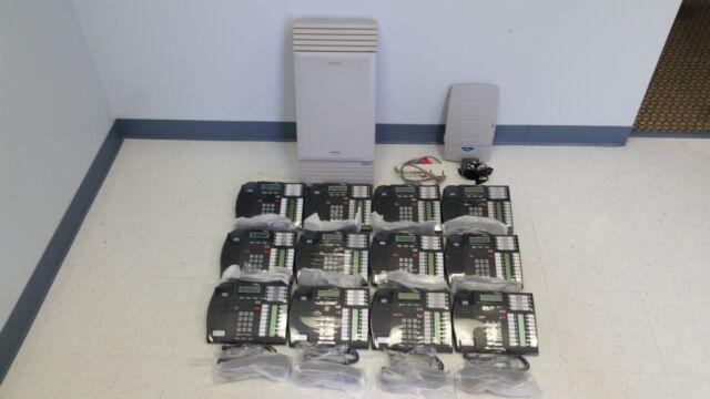 Nortel Norstar MICS Phone System (12) T7316 phones Caller ID + CallPilot 100 VM