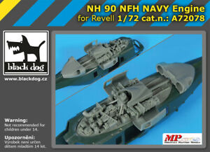 Black-Dog-A72078-Resin-1-72-NH-Industries-NH-90-Navy-engine-REVELL