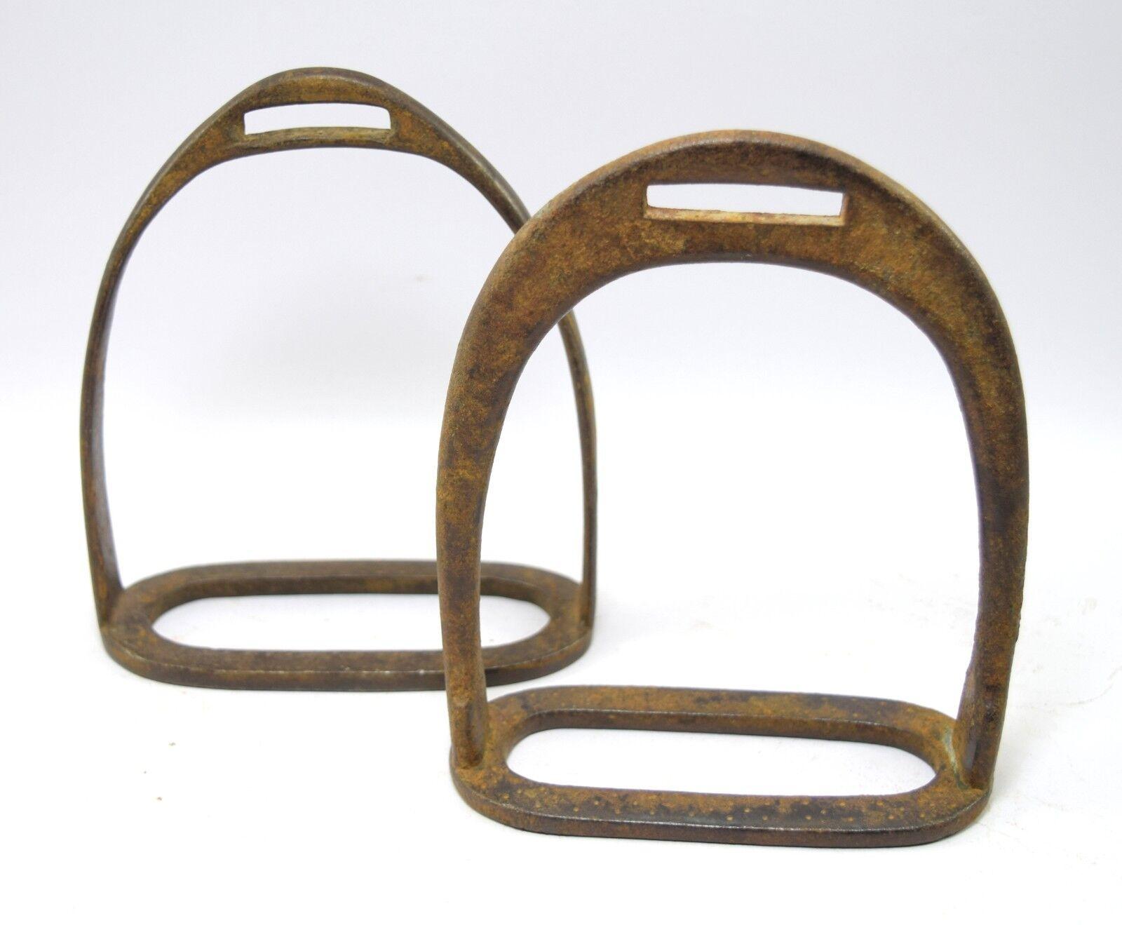 Coleccionables Indian Vintage Caballo estribo Par Pies Pedal Granja Decoración. G42-163 US