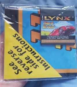 NEW-Hard-Drivin-039-w-Manual-poster-Atari-Lynx-Never-Boxed-NEW-old-stock-Pre-pack