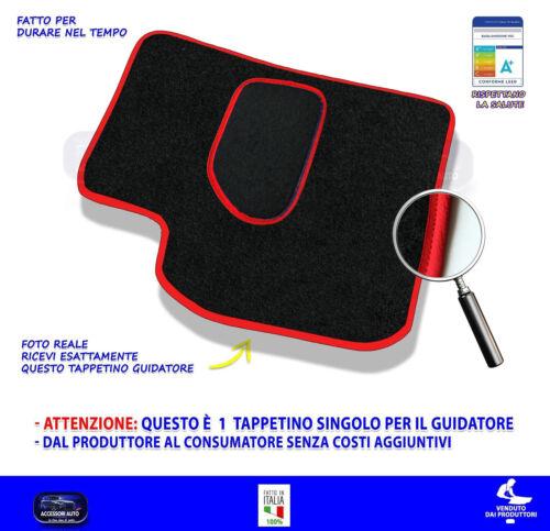 Per Fiat Panda 2003/>2011 Gpl Metano Tappetino Moquette tappetini guidatore da 1