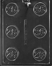 #25 TWENTY FIVE COOKIE MOLD chocolate soap candy molds oreo oreos