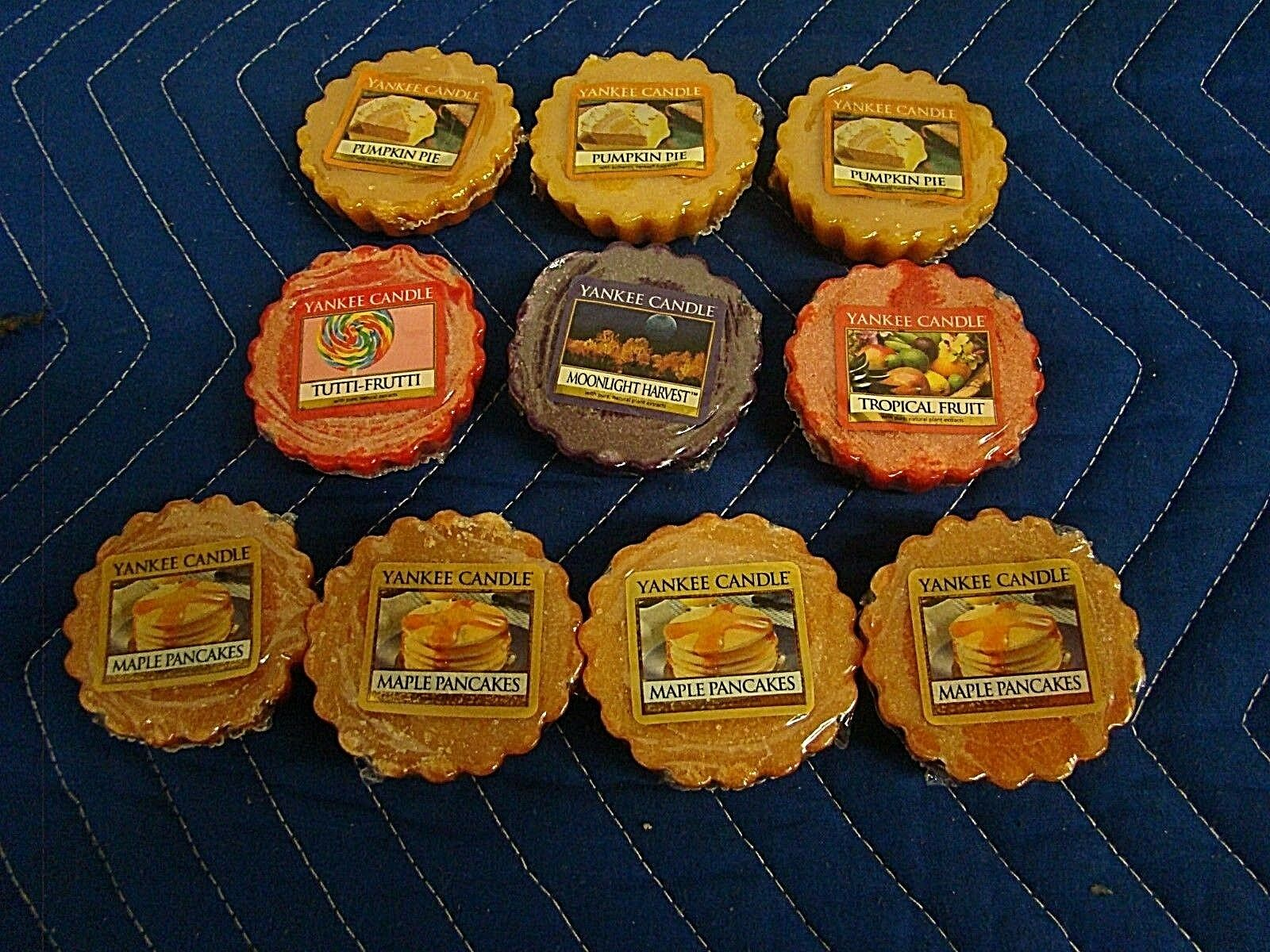 LOT OF 10  Yankee Candle Pumpkin Pie, Maples Pancakes, Tutti Fruiti, Moonlight..