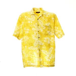 Herren-Hawaii-Hemd-Groesse-L-Freizeit-Shirt-Motiv-Kurzarm-Baumwolle