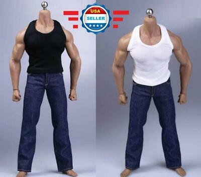 """1//6 Men Fitness graphic vest for 12/"""" strong muscular body M34 M35 Phicen ❶USA❶"""