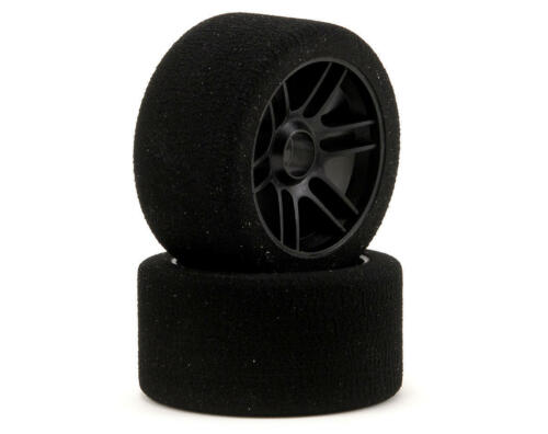 2 Xceed Rc ENNETI 1//8 on Road Front Foam Tires Carbon Black Sh32 101642